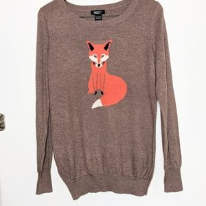 Manna Moda fox graphic light brown sweater S